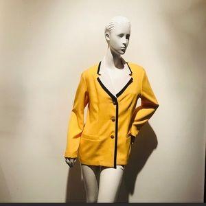 Vintage Yellow Blazer Blk Trim 8